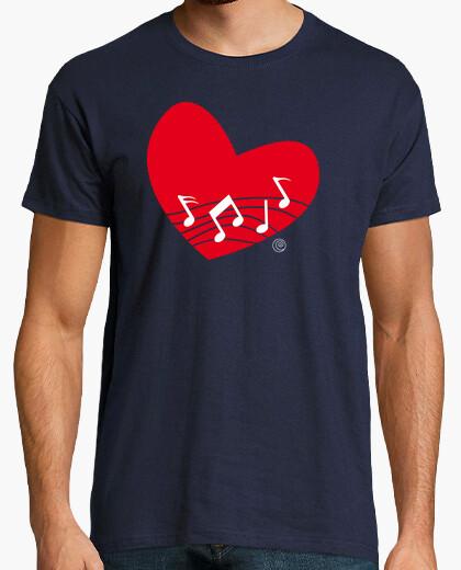 Tee-shirt la musique du coeur