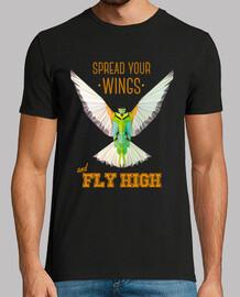 la natura - uccello - geometria. testo: spiegare le ali e volare alto