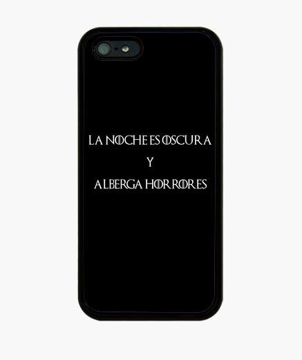 Funda iPhone La noche es oscura y alberga horrores