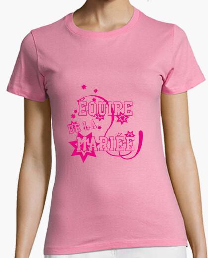 Camiseta La novia del equipo / de la boda