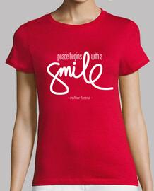 la pace inizia con un smile