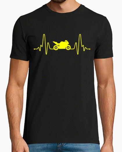 T-shirt la passione per le moto battito cardiaco