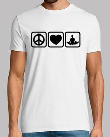 la paz del amor del corazón de la yoga