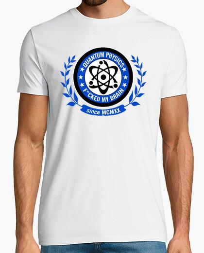 Tee-shirt la physique quantique f * cked mon brain - bleu
