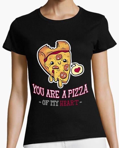 Tee-shirt la pizza de mon coeur