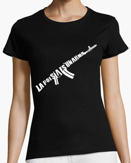 Camiseta La Poesía es un arma cargada de futuro - Chica