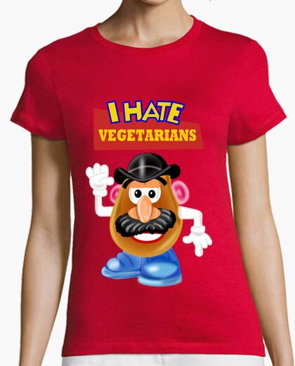 Tee-shirt la pomme de terre déteste végétariens