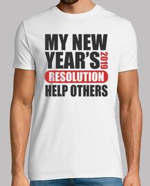 la resolución de mi año nuevo 2019 ayud