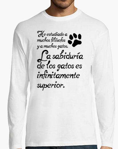 Tee-shirt la sagesse de les chats