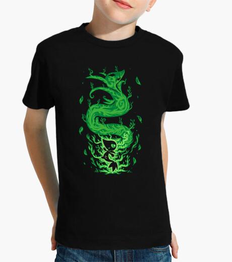 Ropa infantil la serpiente de hierba dentro - camisa de los niños