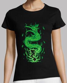 la serpiente de hierba dentro - camisa de mujer