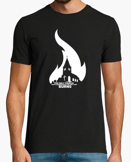 Tee-shirt la seule église qui illumine est celle