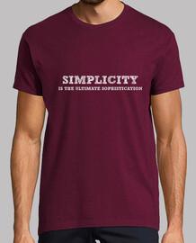 la simplicité est la sophistication ultime