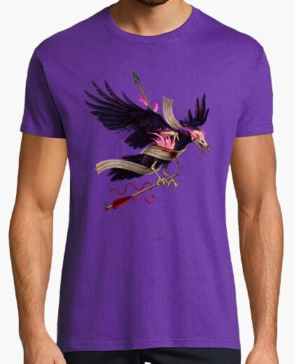 La t-shirt da uomo del corvo zombie
