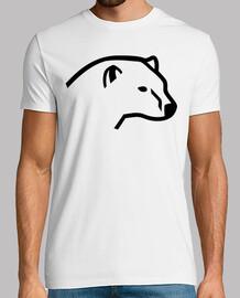 la tête de l'ours polaire