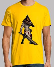 la tête de pyramide pixel silent hill héros