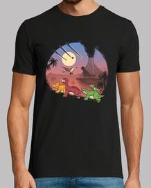 la tierra antes de la extinción de la camisa para hombre