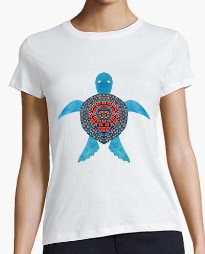 Tee-shirt la tortue de mer tribale bleue