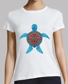 la tortue de mer tribale bleue