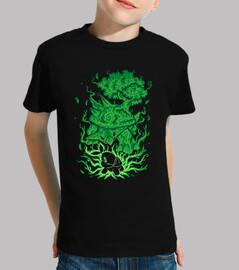 la tortue d'herbe dedans - chemise d'enfants
