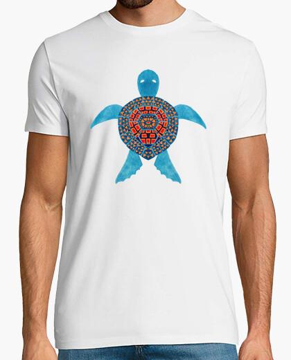 Camiseta la tortuga marina azul tribal
