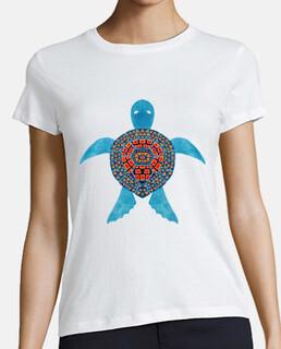 la tortuga marina azul tribal