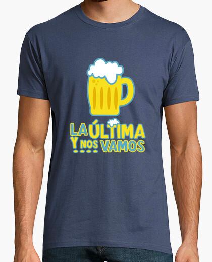 Camiseta La última y ....! Hombre, manga corta, denim, calidad extra