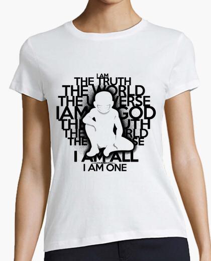 La verdad - versión en negro - camiseta de la mujer