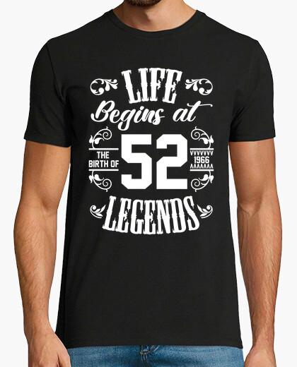 Camiseta la vida comienza en 52 leyendas