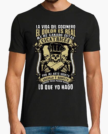Camiseta La vida del cocinero el dolor es real