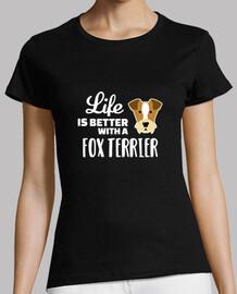 la vida es mejor con un fox terrier