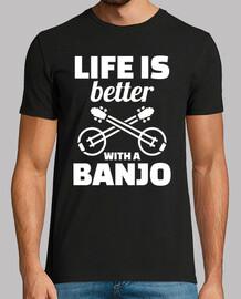 la vie est meilleure avec un banjo