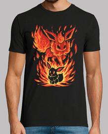 la vigilia del fuoco dentro - camicia da uomo