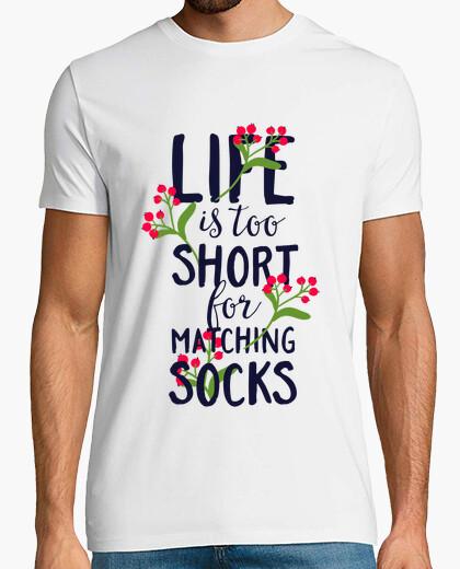T-shirt la vita è troppo corta for match i calz