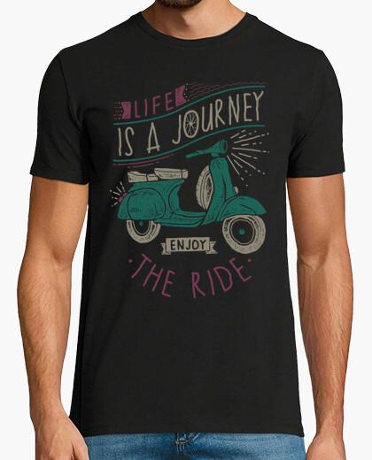T-shirt la vita è un viaggio, godersi la corsa