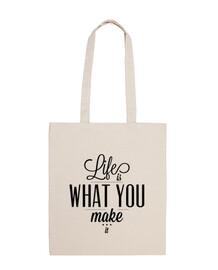 la vita è what ypu make it bag