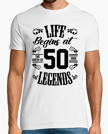 T-shirt la vita inizia con 50 leggende