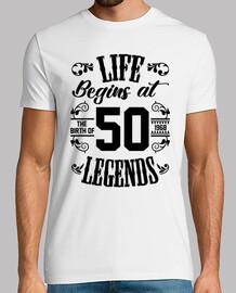 la vita inizia con 50 leggende
