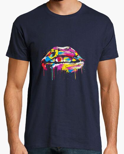 Camiseta labios coloridos