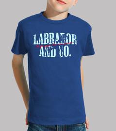 Labrador &Co.®  -  T-Shirt Kids  Fronte/Retro