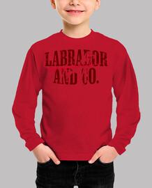 labrador et co.® - enfants avant / arrière t-shirt