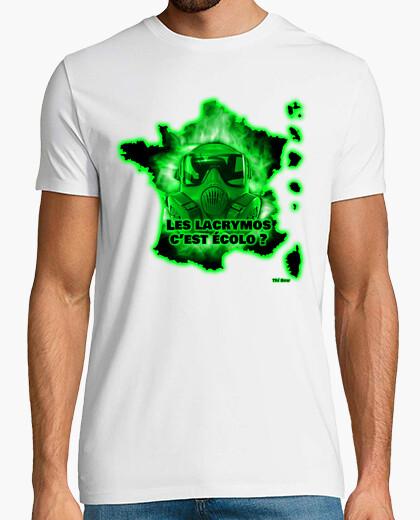 Tee-shirt Lacrymos vert homme blanc