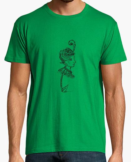 Lady flower tshirt man t-shirt