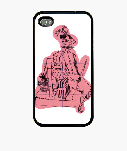 Lady on the train iphone cases