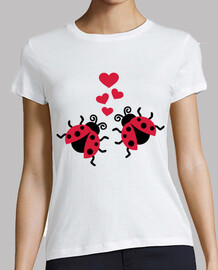 ladybugs in love hearts