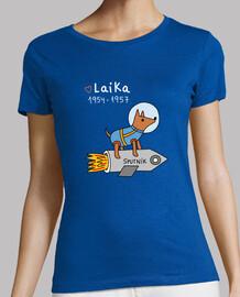 Laika - Mujer, manga corta, gris oscuro, calidad premium