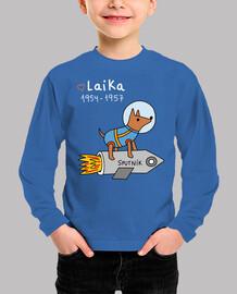 Laika - Niño, manga corta, azul royal