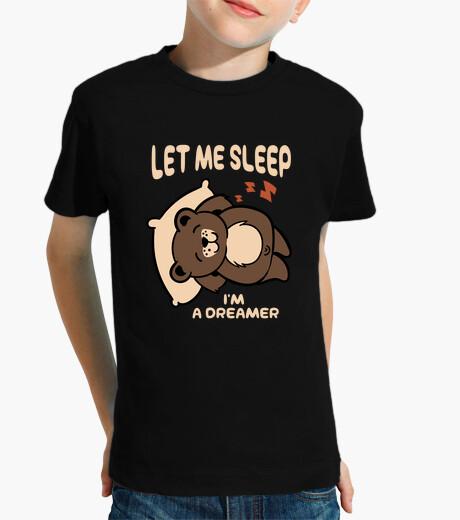 Vêtements enfant laisse moi dormir suis un rêveur - petit ours rigolo pour la sieste