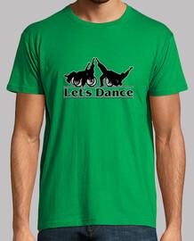laissez-nous danser. t-shirt homme manches courtes