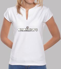 lambskin design. woman, mandarin collar, white